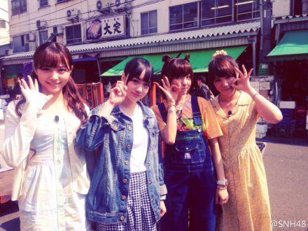【SNH48】築地⇒東京タワー⇒日本橋!?趙嘉敏(SAVOKI)と許佳琪(KIKI)は今日も東京で撮影!