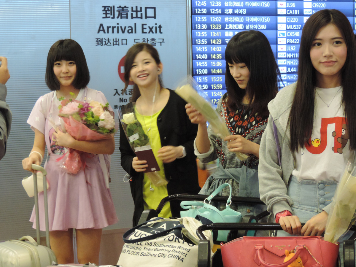 【SNH48】メンバー6人が来日!羽田空港へお出迎えに行ってきました(写真あり)