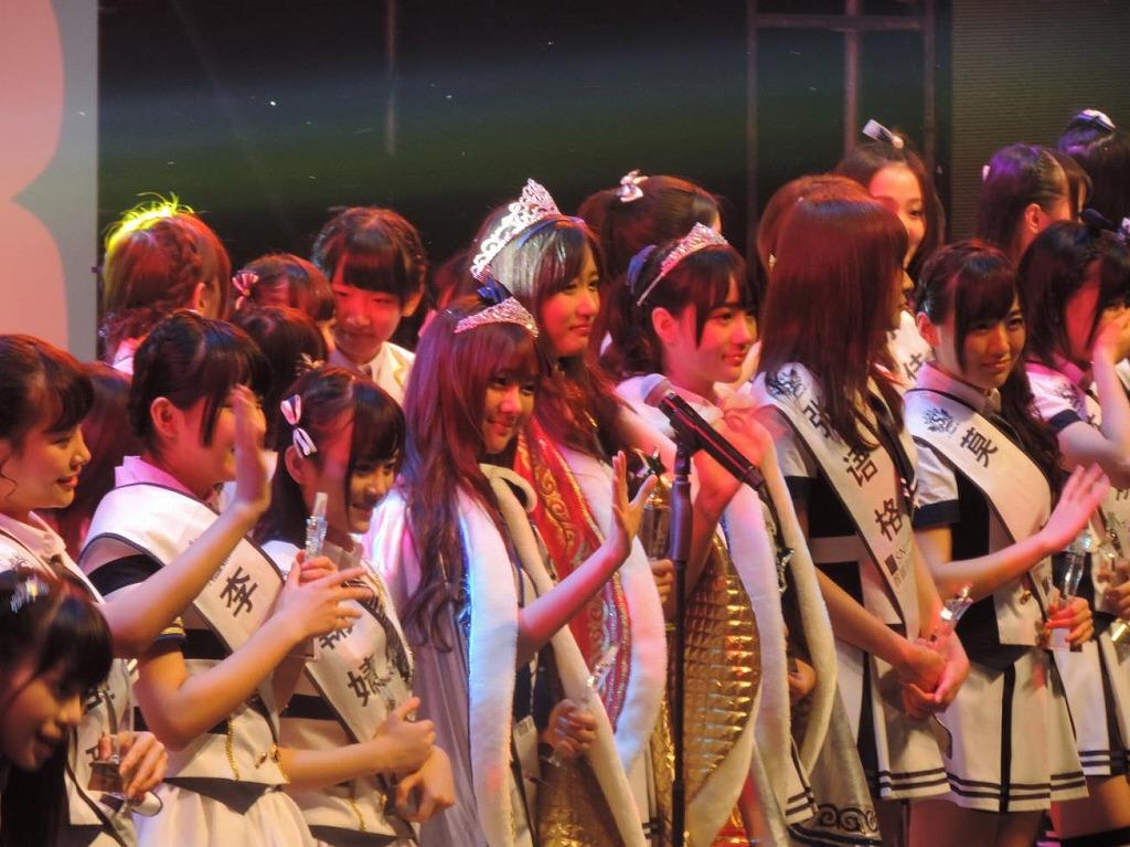 【SNH48選抜総選挙レポート<7>】選抜総選挙開票イベント3位~1位発表と来年につなげる涙たち