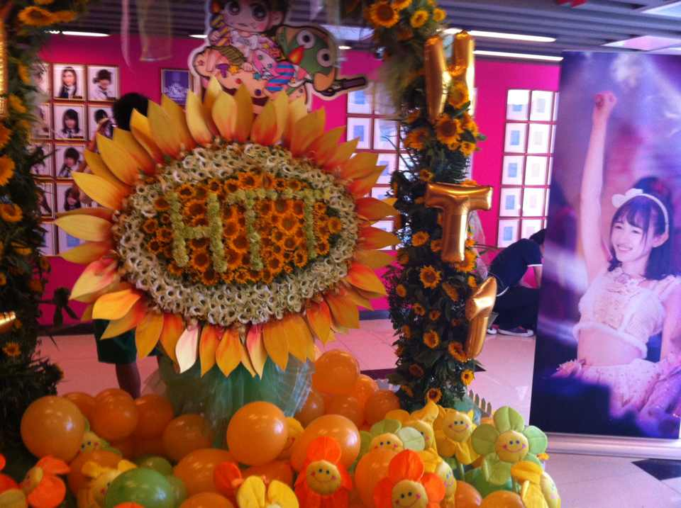 【SNH48】黄婷婷(kotete)生誕祭、中秋節公演の劇場飾りと唐安琪(エンジェル)生誕祭のグッズの写真など