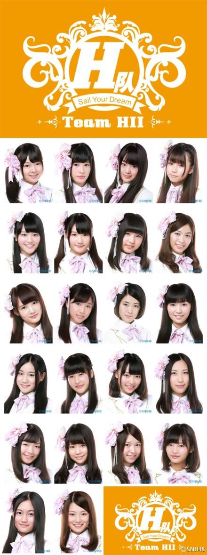 【SNH48】本日新たに『チームHII』が正式に誕生しました!!