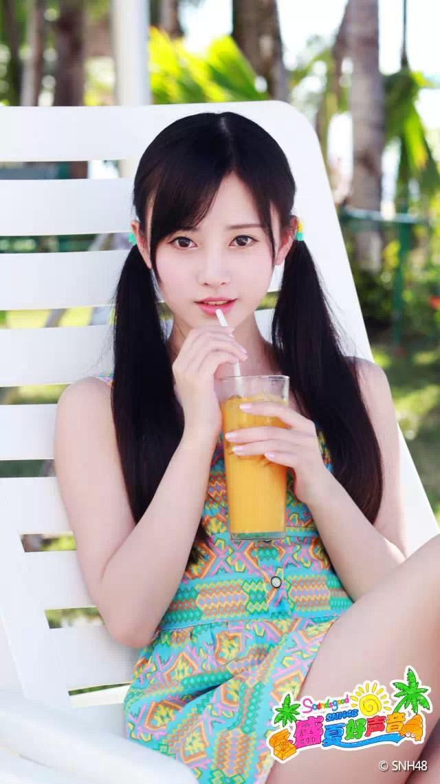 "SNH48公式微信で中国4000年に1人の美少女""鞠婧禕(キクちゃん)""の壁紙配信中!"