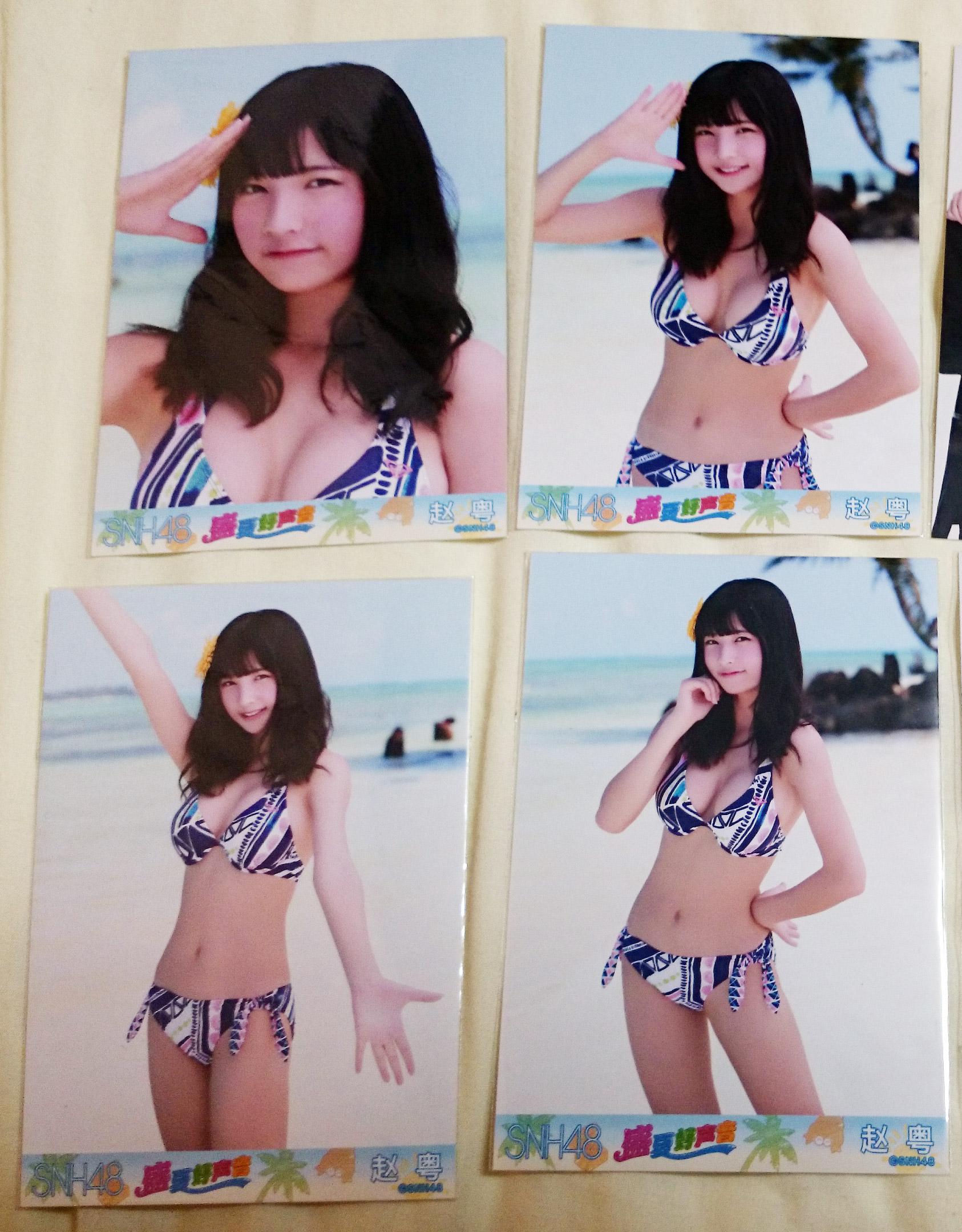 SNH48水着生写真ユーミー(チャオ・ユエ)、ななこ(ジャン・シン)コンプなど