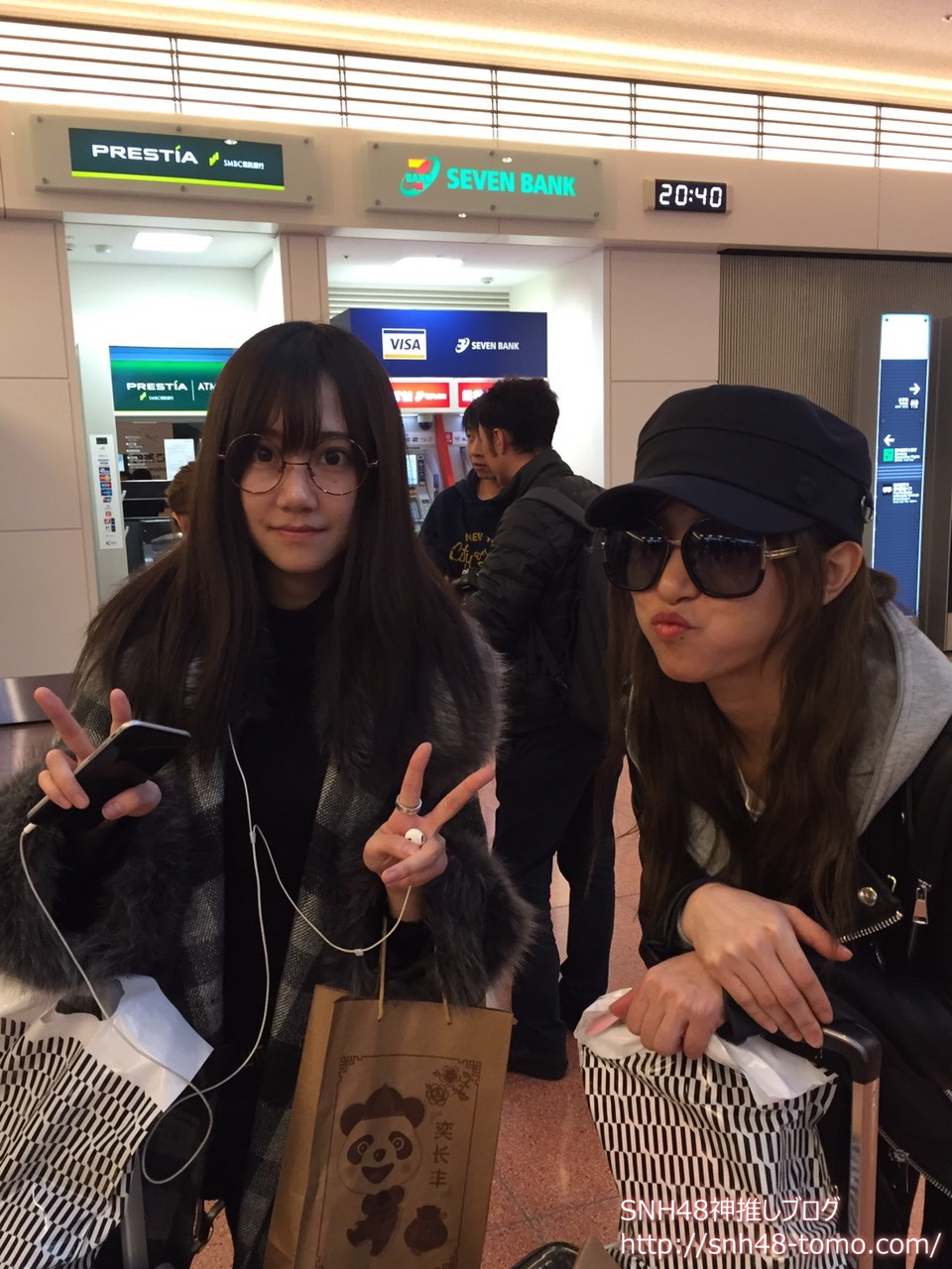 SNH48週刊少女で来日しているメンバーのお迎えに行ってきた in 羽田空港