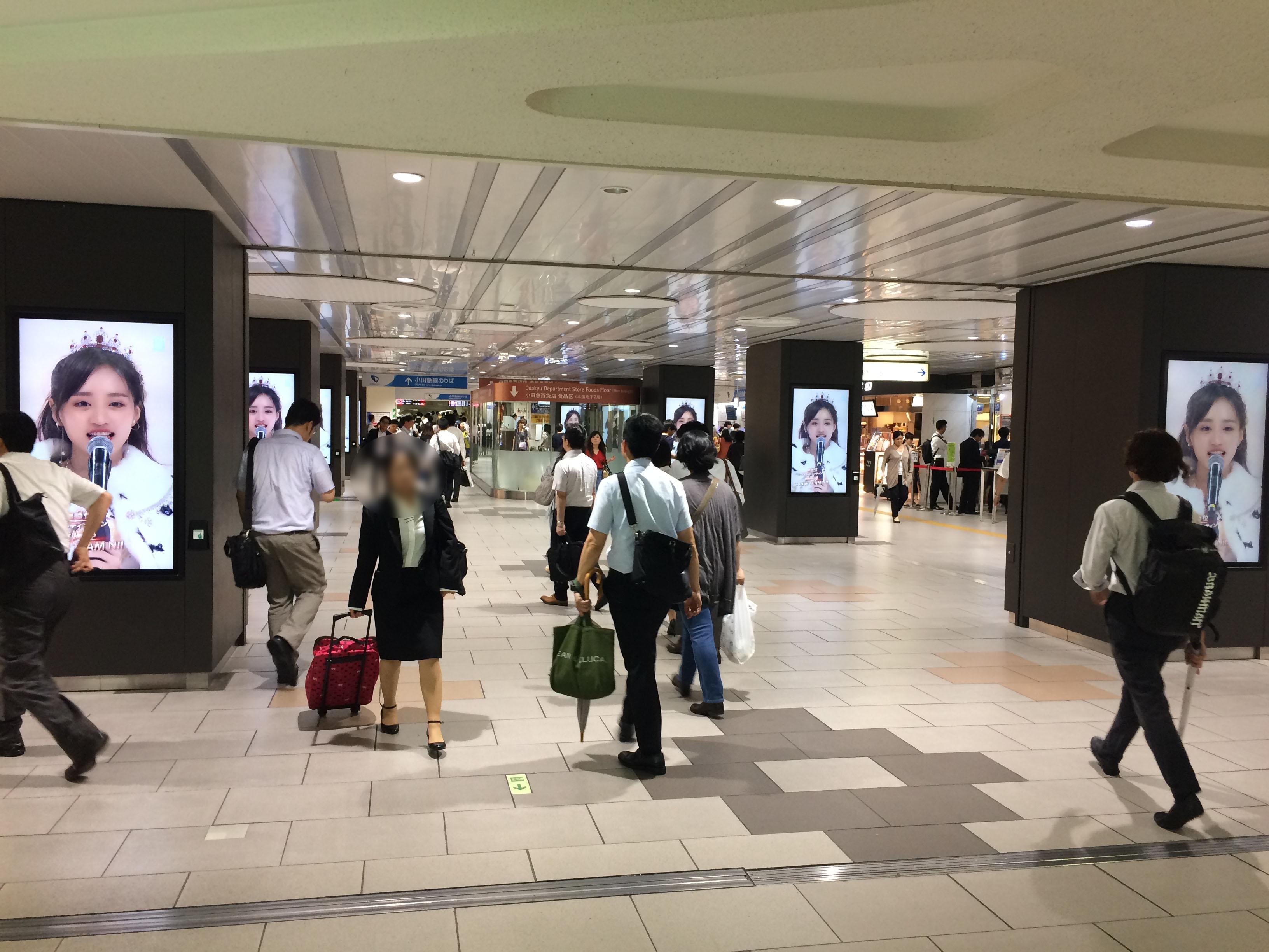 SNH48の一日限定広告ジャック!8/7新宿駅西口の写真を共有!